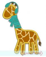 Winter Giraffe Applique 4x4 5x7 6x10
