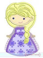 Winter Queen Cutie Applique 4x4 5x7 6x10 SVG