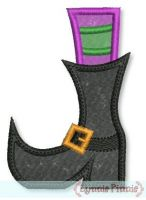Applique Witch's Boot 4x4 5x7