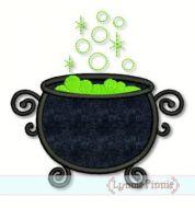 Witch's Cauldron Applique 4x4 5x7 6x10 7x11 SVG
