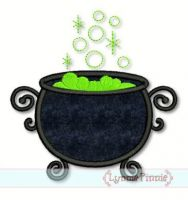 Witch's Cauldron Applique 4x4 5x7 6x10 7x11 SVG