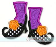 Wacky Witch Shoes 4x4 5x7 6x10 7x11 SVG