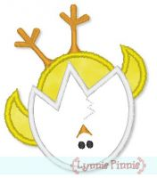 Wobbly Hatching Chick Applique 4x4 5x7
