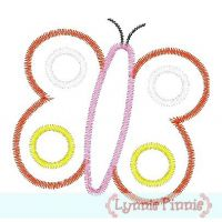 Zig Zag Butterfly Applique 4x4 5x7 6x10