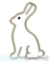 Zig Zag Chocolate Bunny Applique 4x4 5x7