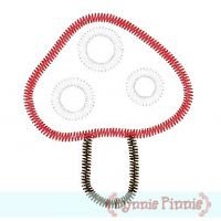 Zig Zag Mushroom Applique 4x4 5x7 6x10
